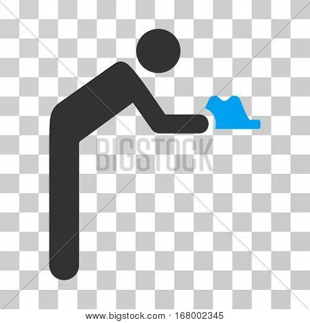 Servant icon. Vector illustration style is flat iconic bicolor symbol, blue and gray colors, transparent background. Designed for web and software interfaces.