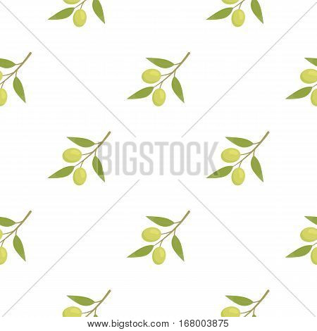 Olive icon cartoon. Singe vegetables icon from the eco food cartoon. - stock vector