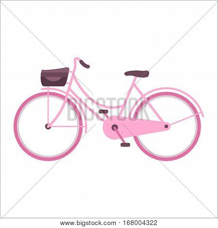 Vintage retro bicycle and style antique sport old fashion grunge flat pedal ride vector. Riding bike transport illustration. Healthy lifestyle vehicle.