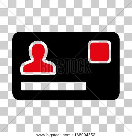 Banking Card icon. Vector illustration style is flat iconic bicolor symbol, intensive red and black colors, transparent background. Designed for web and software interfaces.