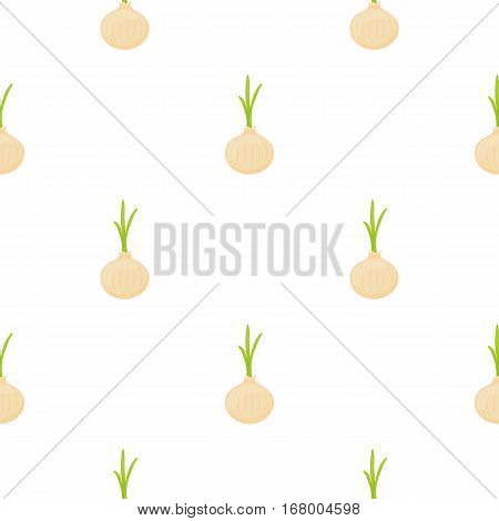 Onion icon cartoon. Singe vegetables icon from the eco food cartoon. - stock vector