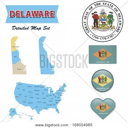 Delaware State Set