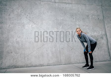 Woman Athlete Runner Taking A Break