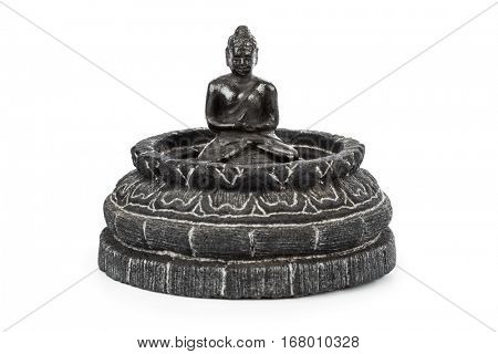 Buddha stupa - souvenir from Borobudur Temple in Indonesia - isolated on white background