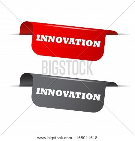This is red and gray vector elements innovation