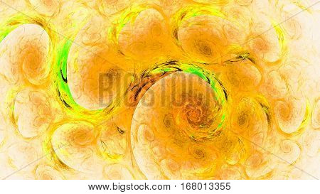 Fiery sky apocalypse. Streams water, circulation. 3D surreal illustration. Sacred geometry. Mysterious psychedelic relaxation pattern. Fractal abstract texture. Digital artwork graphic astrology magic