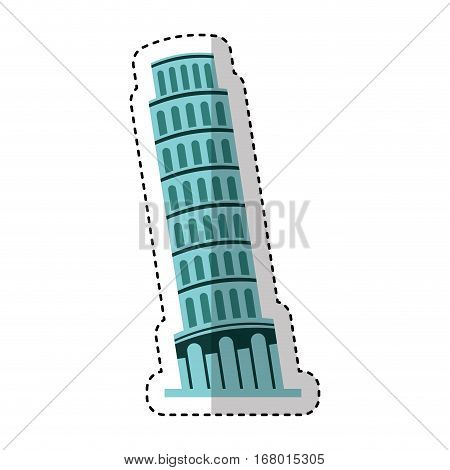 piza tower isolated icon vector illustration design