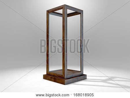 Glass Display Case Verticle
