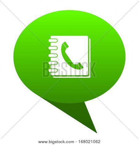 phonebook green bubble web icon