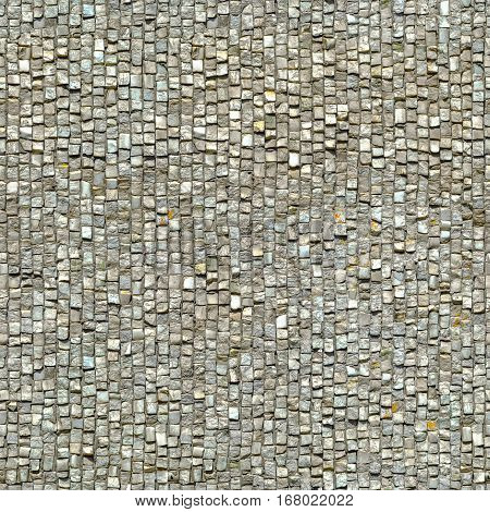 Old marble mosaic Seamless texture. Wall Repeatable pattern
