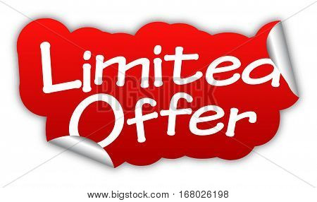 offer limited offer sticker limited offer red sticker limited offer red vector sticker limited offer limited offer eps10 design limited offer