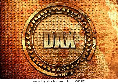 Dax, 3D rendering, grunge metal stamp