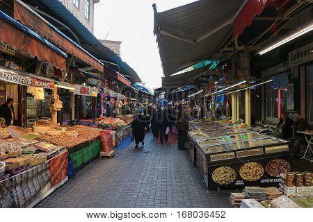 Food Stands In Bursa, Turkey