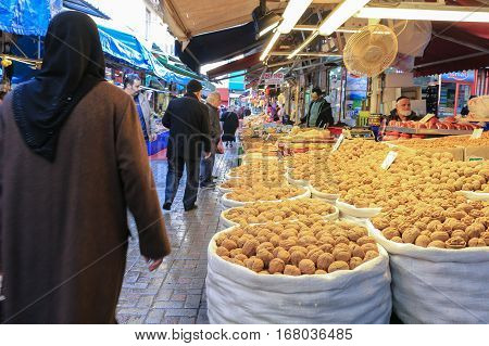 Nut For Sale At Bursa Outdoor Market