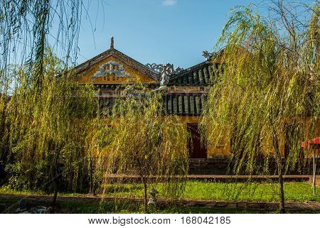 Garden house in Hue Imperial Palace, Purple Forbidden City, Vietnam