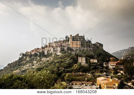 Picturesque mountain village Eze in South France near Nice and Monaco.