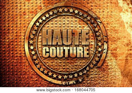 couture, 3D rendering, grunge metal stamp