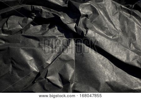 Thick Black Paper Crumpled Up