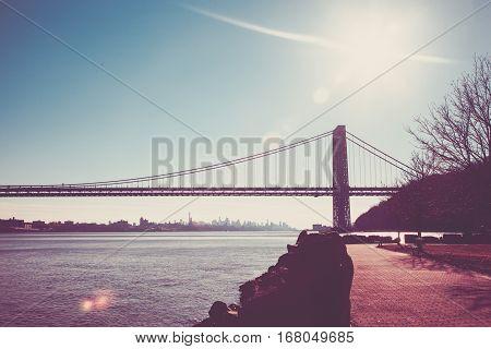 George Washington Bridge From Fort Lee Historic Park