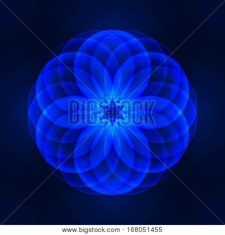 abstract vector background with consecrated symbols of sacred geometry. Flower of Life