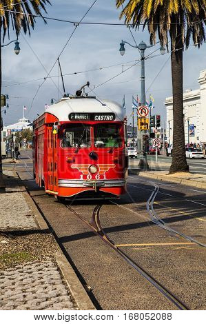 San Francisco, Usa, The Cable Car Tram