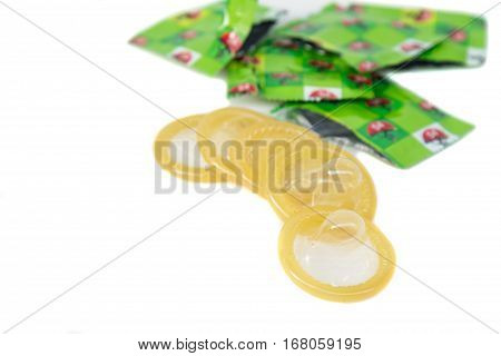 Condom On Isolated