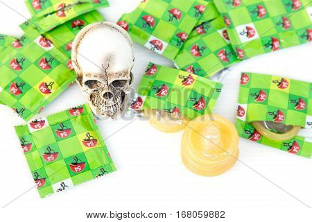 Condom And Skull
