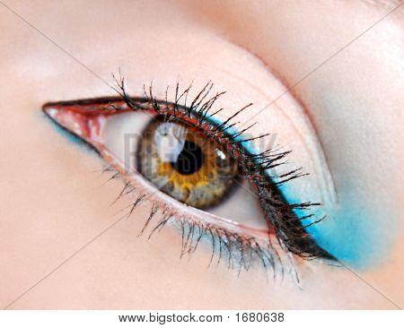 Beauty Eye With Blue Eyeshadows