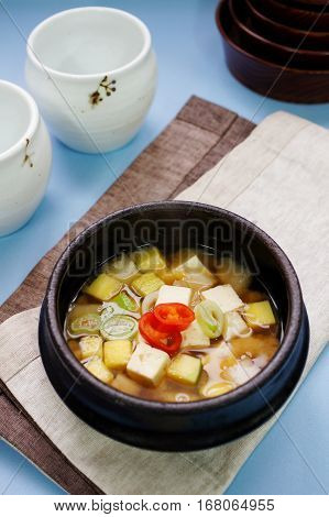 Doenjang stew, Doenjang jjigae, Bean paste stew, Korean stew