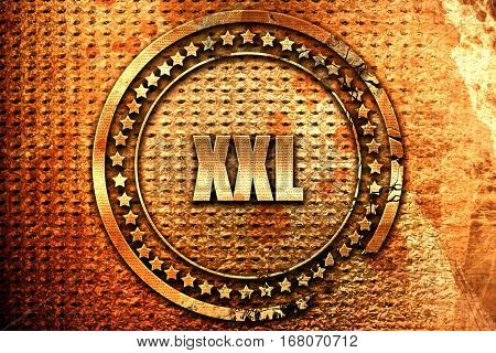 xxl sign background, 3D rendering, grunge metal stamp