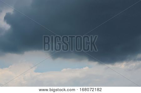 rain cloud covering on the bright sky