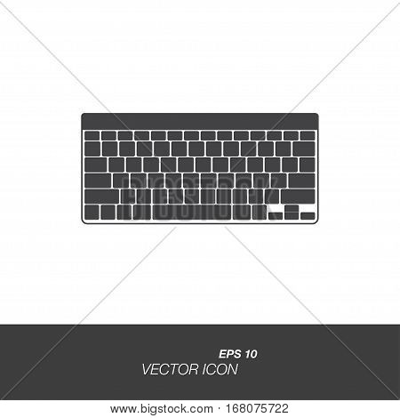Keyboard icon in flat style isolated on white background. Keyboard symbol for your design and logo. Vector illustration EPS 10.