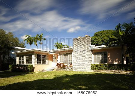 Stock photo of a trypical middle class Florida house
