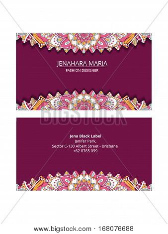 id card elegant with a purple, This design is suitable for business cards