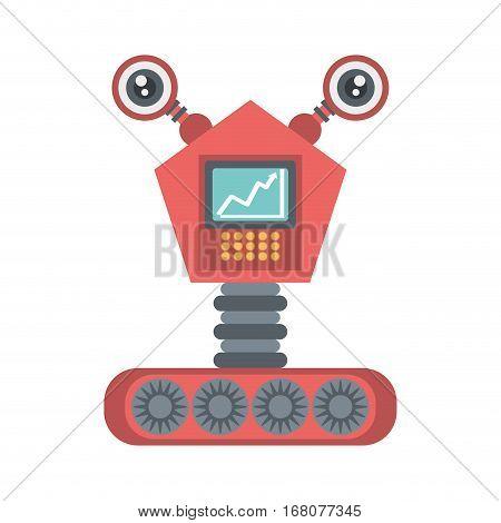 robot eletronic mechanical modern vector illustration eps 10