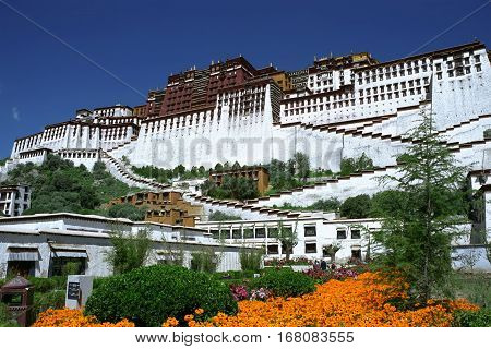 Potala Palace - the residence of the Dalai Lama in Lhasa.