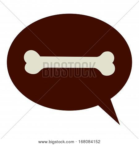 dog bone pet accesory icon vector illustration graphic design