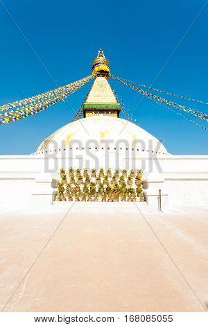 Boudhanath Stupa Second Level Eyes Nobody V