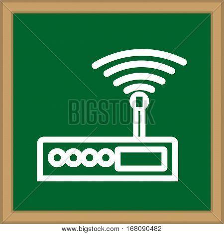 Internet wifi router icon vector illustration graphic design