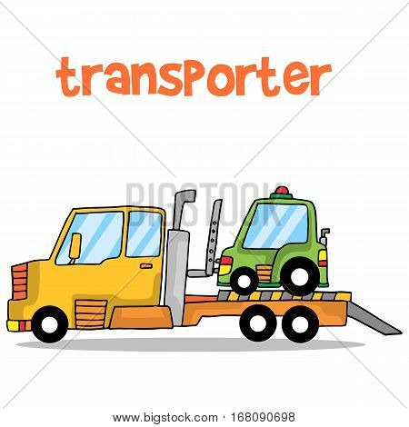 Transporter car of vector art collection stock