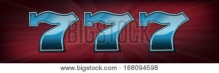 Triple lucky seven slot machine font