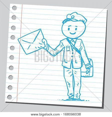 Postman delivering message