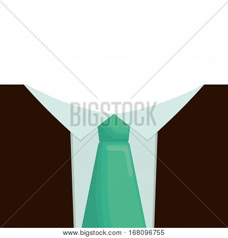 father day celebration necktie suit card vector illustration eps 10