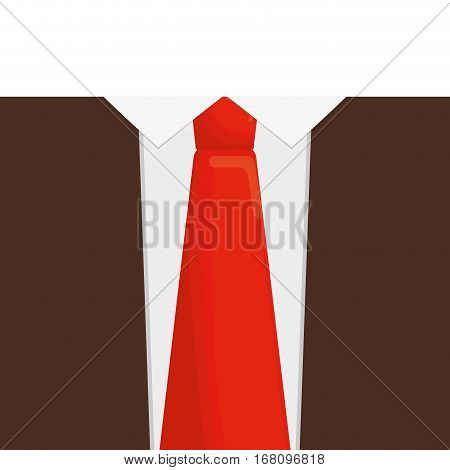 orange necktie man shirt father day vector illustration eps 10