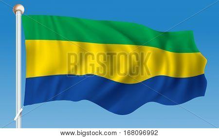 Flag of Gabon - vector illustration