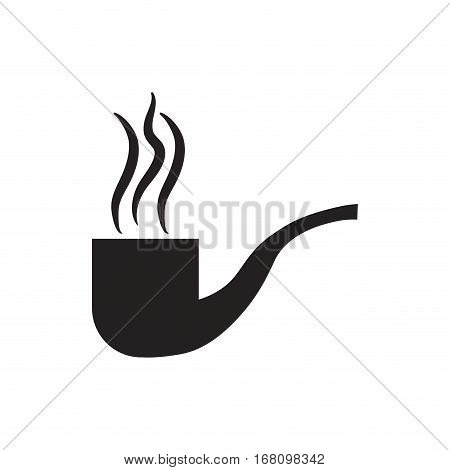 tobacco pipe smoking pictogram vector illustration eps 10