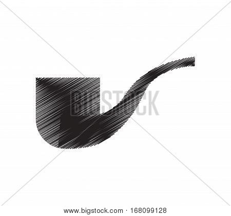 tobacco pipe smoking pictogram draw vector illustration eps 10