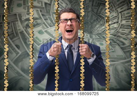 Man trapped in prison with dollars