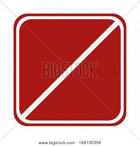 restricted square sign road traffic vector illustration eps 10