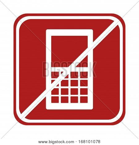 restricted smartphone technology device square sign vector illustration eps 10